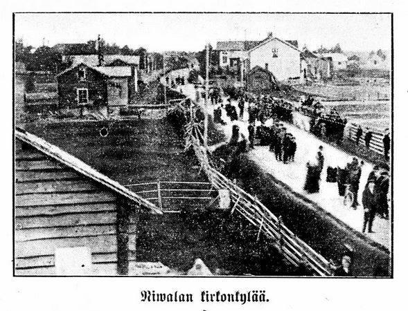 Nivalan kirkonkylä 1912