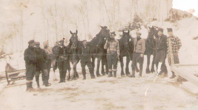 Valokuvia 1930-luvun Kanadan metsureista